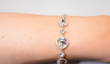 White Crystals Swarovski Elements Cubic Zirconia bracelet