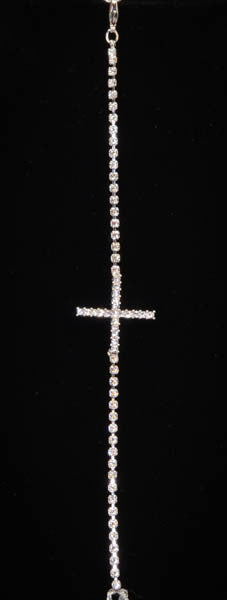 Cross with Cubic Zirconia made by Swarovski Elements