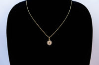 Gold Plated Sun Pendant Necklace