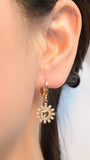 Gold Plated Sun Earrings with Cubic