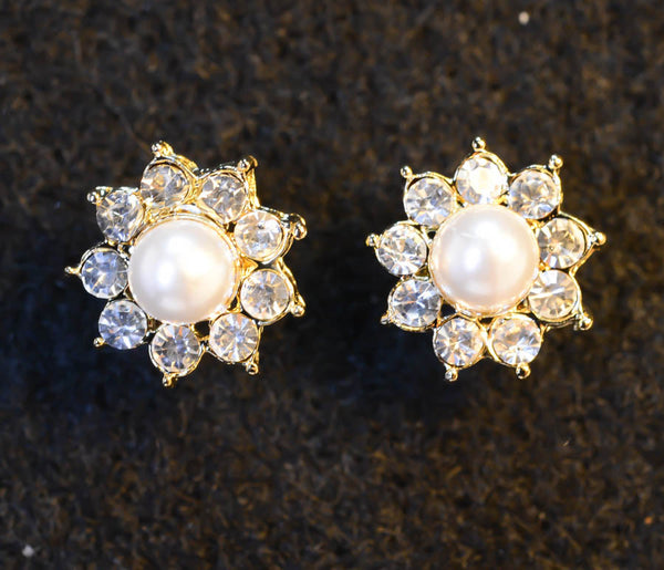 Shiny Sun Earrings with Cubic Zirconia