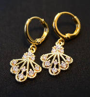 Gold Plated Earrings with Cubic Zirconia