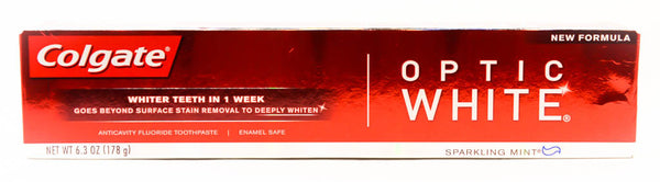 Colgate Optic White Enamel Safe Toothpaste, 6.3 OZ
