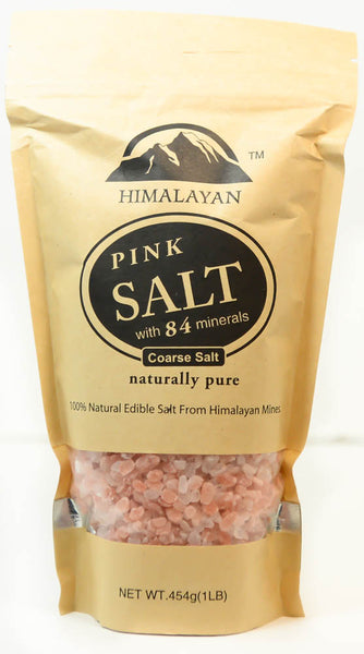Pink Salt with 84 Minerals, Himalayan Coarse Salt