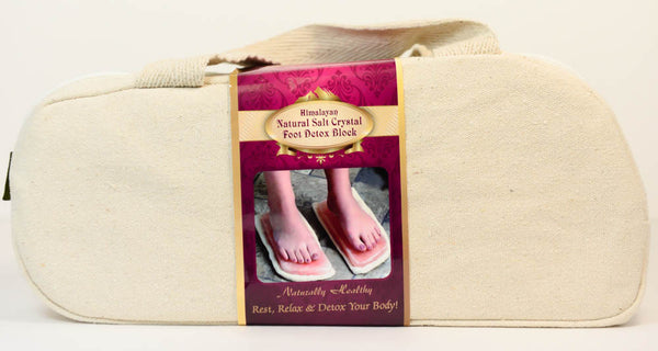 Himalayan Natural Salt Crystal Foot Detox Block