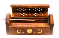 Incense Coffin Burner Storage Compartment