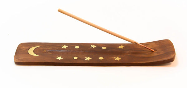 Wooden Incense Holder And Burner, 6""