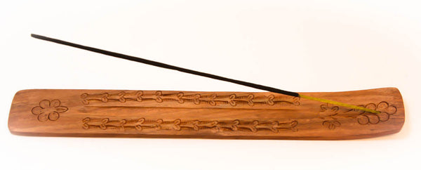 Wooden Incense Holder and Burner, 10''