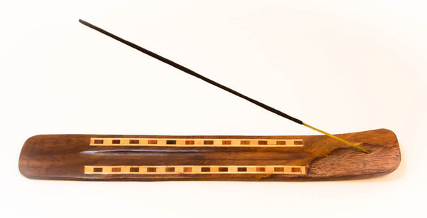 Wooden Incense, 10'' length, Holder and Burner