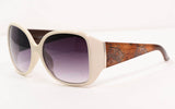 Large White Frame Female Fashion Sunglasses