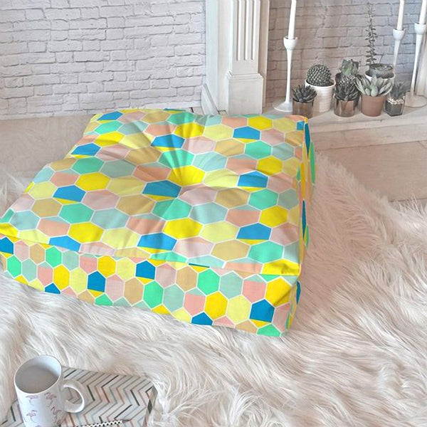 Floor Pillow: Scandinavian Bee Hive