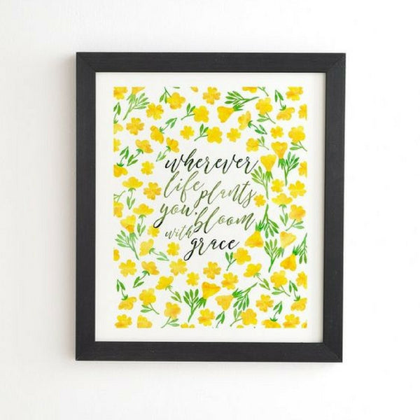Framed Wall Art: Bloom with Grace