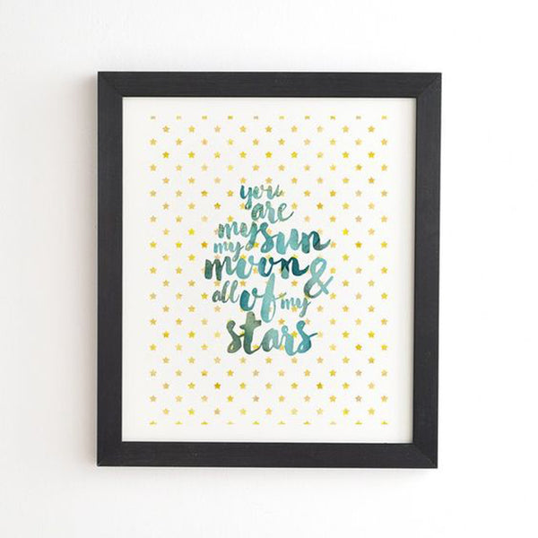 Framed Wall Art: You Are My Stars, Moon and All of My Stars