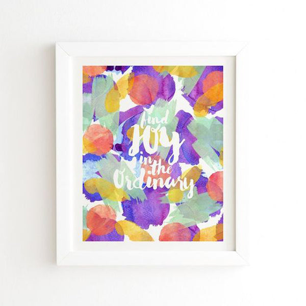 Framed Wall Art: Find Joy In The Ordinary