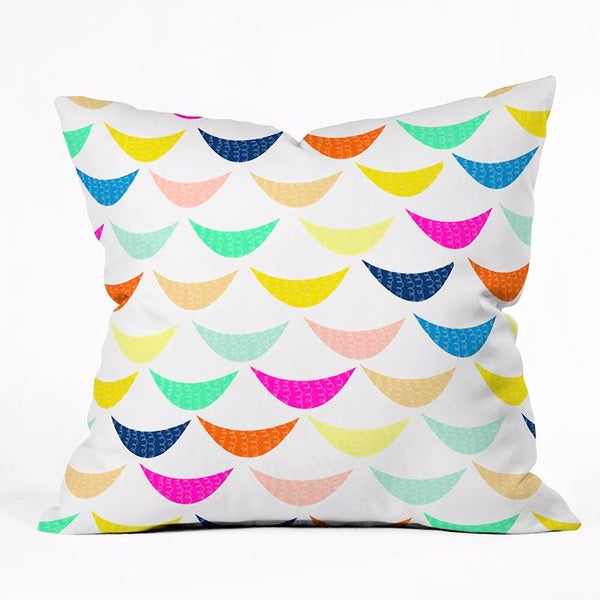 Throw Pillow: Rainbow Fish