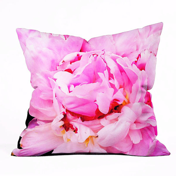Throw Pillow: Pink Peony