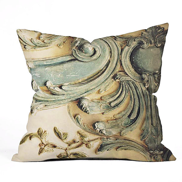 Throw Pillow: Blue Lace