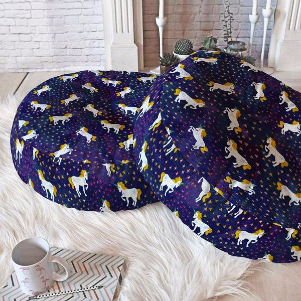 Floor Pillow: Believe in Unicorns