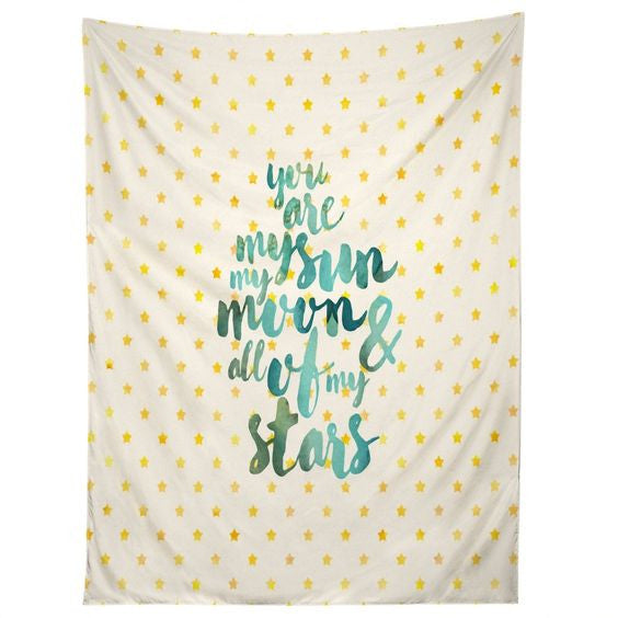 Wall Tapestry: You Are My Sun, My Moon and All of My Stars