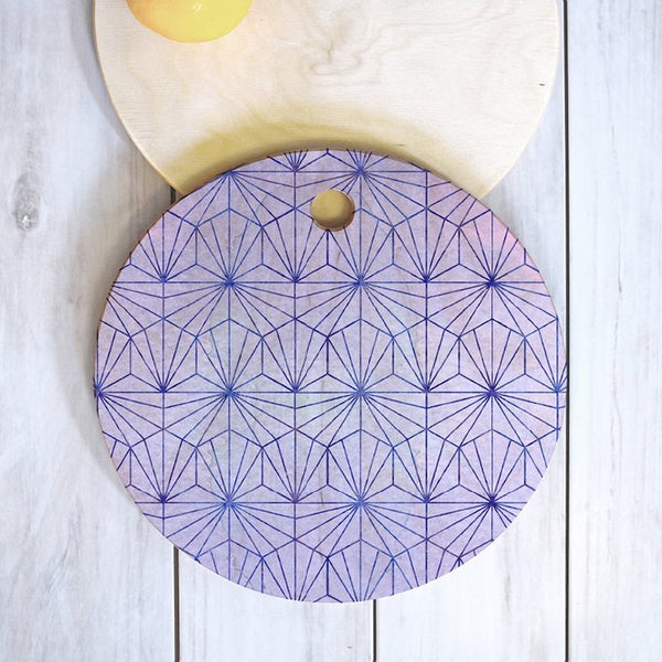 Cheese Board: Geometric Amethyst
