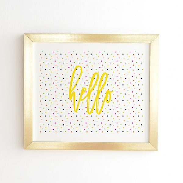 Framed Wall Art: Happy Dots To You