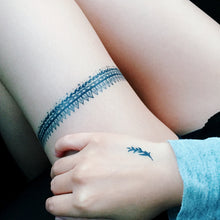 Load image into Gallery viewer, Spiky Stripe Band Line Tattoo - LAZY DUO TATTOO