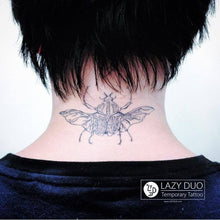 Load image into Gallery viewer, Fineline Beetle Insect Sketch Tattoo - LAZY DUO TATTOO