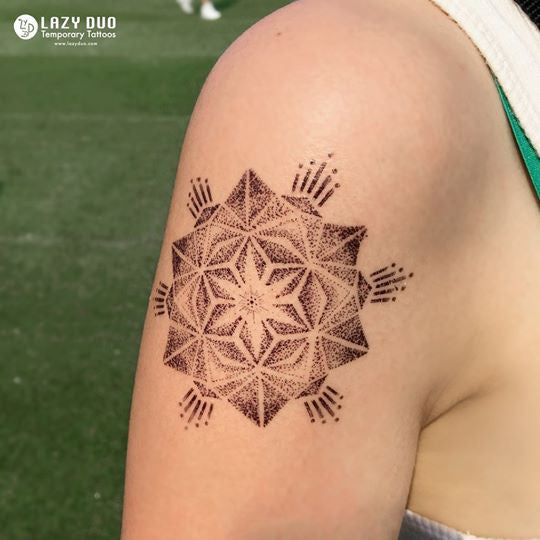 Mandala Spiral Geometry Tattoo Minimal Tattoo LAZY DUO Tattoo Sticker 香港紋身貼紙 刺青圖案 紋身師 印刷訂做客製 Custom Temporary Tattoo artist HK tattoo shop Hong Kong 迷你刺青 韓式刺青紋身 small tattoo design Minimal Tattoo little tattoo idea sketchy tattoo floral tattoo ankle wrist tattoo back tattoo Taiwan