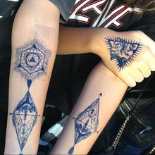 Load image into Gallery viewer, River, Arrows and Moon Tattoo - LAZY DUO TATTOO