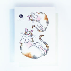 Sleepy Calico Cat Loves Belly Rubbing Tattoo Ideas Neko Golden Kitten Tattoo Meow Cat Neko Tattoos HK Temporary Tattoo Sticker Water Color Tattoo LAZY DUO Tattoo Shop Hong Kong HK 三色貓摸肚肚紋身貓女浪浪喵寵物刺青 浪浪香港紋身貼紙刺青紋身師設計印刷訂做客製 Custom Temporary Tattoo Event Printing Tattooist artist HK tattoo shop MANE INK Tattooer Tattoo Artist Taiwan fine line ornament tattoo 台灣製 刺青師紋身師