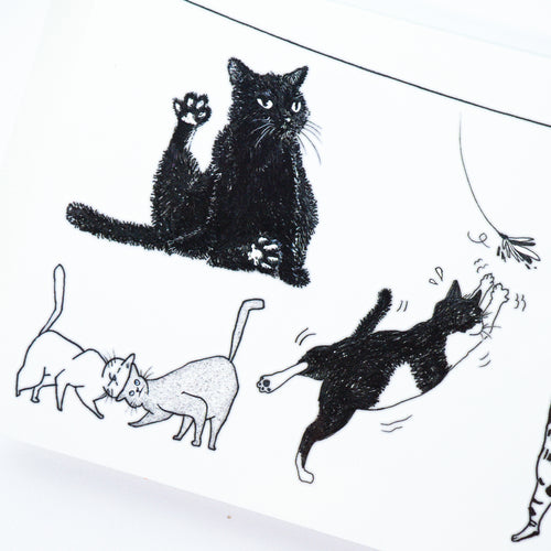Black & White Cat Combo Tattoo ManE Ink HK Tattooist LAZY DUO Comic Style Playful Black Cat White Cat Tattoo Stickers 美漫風格黑貓紋身白貓玩耍合體技浪浪不哭喵咪寵物刺青香港紋身貼紙Kitten Tattoo Ideas Neko Tattoo Meow Animal Pet Tattoos HK Temporary Tattoo Sticker Water Color Tattoo LAZY DUO Tattoo Shop Hong Kong HK 紋身師設計印刷訂做客製 Custom Temporary Tattoo Event Printing Tattooist artist HK tattoo shop MANE INK Tattooer Tattoo Artist Taiwan fine line ornament tattoo 台灣製 刺青師紋身師