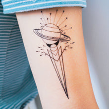 Load image into Gallery viewer, Geometric Universe Tattoo - LAZY DUO TATTOO