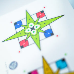 Lime & Lemon Star Tile Tattoo - LAZY DUO TATTOO