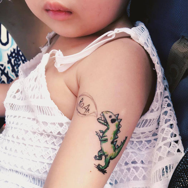 Dinosaur Tattoo Kids Drawing Tattoos Cute Tattoo Fun Delicate Watercolor LAZY DUO Tattoo Sticker 香港紋身貼紙 刺青圖案 紋身師 印刷訂做客製 Custom Temporary Tattoo artist HK tattoo shop Hong Kong 迷你刺青 韓式刺青紋身 small tattoo design Minimal Tattoo little tattoo idea sketchy tattoo floral tattoo ankle wrist tattoo back tattoo Taiwan
