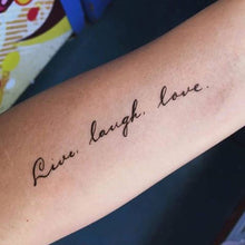 Load image into Gallery viewer, Positive Vibes・Live Laugh Love Tattoo - LAZY DUO TATTOO