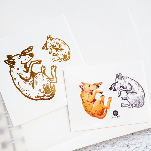 Puppy Tattoo cat Tattoo Alpaca Tattoo Bear Tattoo Monkey Tattoo Animal Tattoo Ideas Kids Drawing Tattoo LAZY DUO Temporary Tattoos Watercolor Animal Tattoos 森林動物插畫紋身貼紙 可愛兒童塗鴉刺青 貓狗羊駝牛豬猴兔熊狐狸