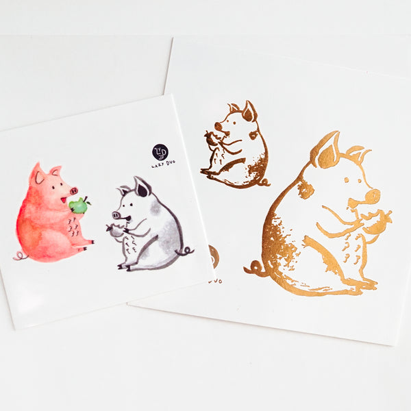 Pig Tattoo Fox Tattoo Rabbit Tattoo Bunny Tattoo Cow Tattoo Puppy Tattoo cat Tattoo Alpaca Tattoo Bear Tattoo Monkey Tattoo Animal Tattoo Ideas Kids Drawing Tattoo LAZY DUO Temporary Tattoos Watercolor Animal Tattoos 森林動物插畫紋身貼紙 可愛兒童塗鴉刺青 貓狗羊駝牛豬猴兔熊狐狸