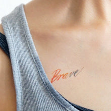 Load image into Gallery viewer, Watercolor Lettering Tattoo・Brave - LAZY DUO TATTOO
