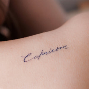 ZODIAC TATTOO・CAPRICORN - LAZY DUO TATTOO