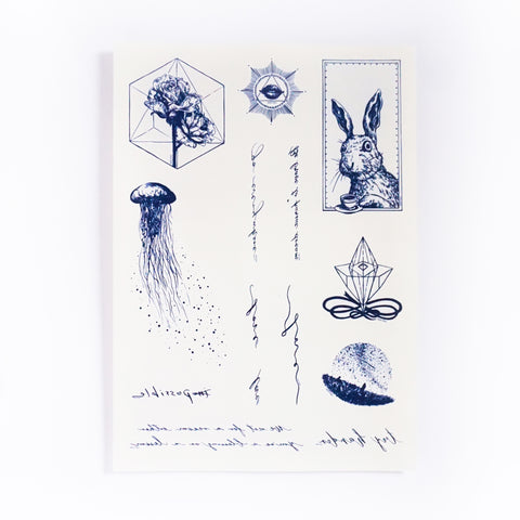 Jellyfish Tattoo Whales Ocean Tattoo Minimal Tattoo LAZY DUO Tattoo Sticker 香港紋身貼紙 刺青圖案 紋身師 印刷訂做客製 Custom Temporary Tattoo artist HK tattoo shop Hong Kong 迷你刺青 韓式刺青紋身 small tattoo design Minimal Tattoo little tattoo idea sketchy tattoo floral tattoo ankle wrist tattoo back tattoo Taiwan