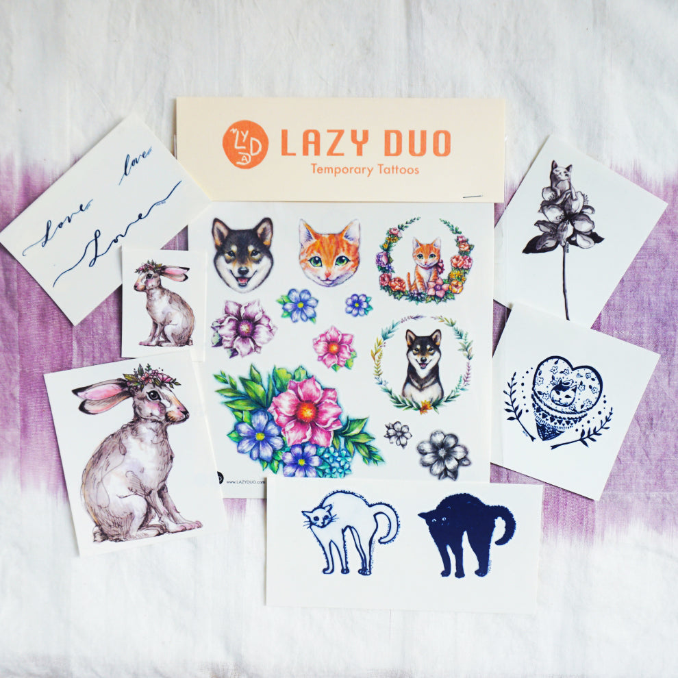 Gift Set - Joyful Animals Tattoos - LAZY DUO TATTOO
