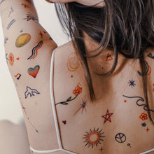 Load image into Gallery viewer, Colorful & Playful Mini Tattoos - LAZY DUO TATTOO