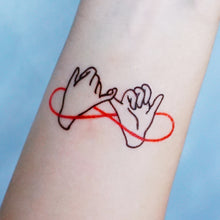 Load image into Gallery viewer, Pinky Promise・BFF & Friendship Tattoo - LAZY DUO TATTOO