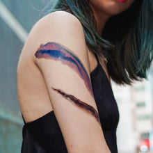 Load image into Gallery viewer, Watercolor Brushstroke Tattoos - LAZY DUO TATTOO