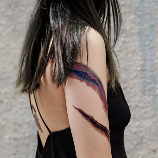 Watercolor Brushstroke Tattoo Brushwork Tattoo Colorful Temporary Tattoo Flash Minimal Graphic Tattoo Sticker Simplicity Minimalism Hong Kong tattoo Sticker Mini Tattoo 紋身貼紙 Tree tattoo Small Tattoos linetattoo colortattoos tattoodesign 香港紋身 minimal tattoo tiny tattoos cute tattoos Best girls tattoos Moon Tattoo 刺青師