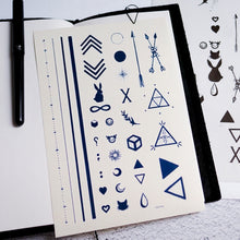 Load image into Gallery viewer, Minimal Symbol Tattoos Set - LAZY DUO TATTOO
