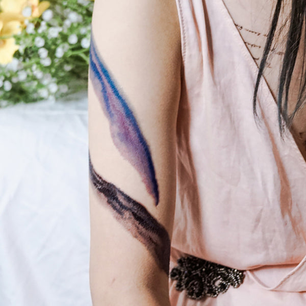Watercolor Brushstroke Tattoo Brushwork Tattoo Blue Purple Green Pink Black Colorful Temporary Tattoo Flash Minimal Graphic Tattoo Sticker Simplicity Minimalism Hong Kong tattoo Sticker Mini Tattoo 紋身貼紙 Tree tattoo Small Tattoos linetattoo colortattoos tattoodesign 香港紋身 minimal tattoo tiny tattoos cute tattoos Best girls tattoos Moon Tattoo 刺青師
