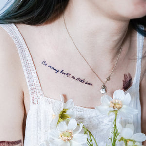 Dreamer Quote・Book & Love Tattoo - LAZY DUO TATTOO