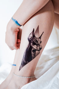 Doberman Pinscher Dog Tattoo - LAZY DUO TATTOO