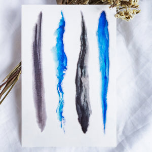 Watercolor InkWash & Ocean Wave Tattoos - LAZY DUO TATTOO